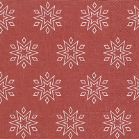 Napkins 33x33 cm - Starry red