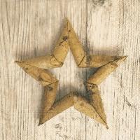 Servilletas 33x33 cm - Estrella de abedul