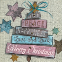 Lunch napkins Christmas wishes