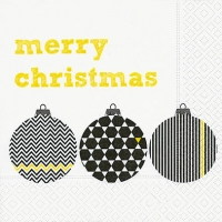 Lunch napkins Pattern baubles