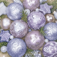 Lunch napkins Purple baubles