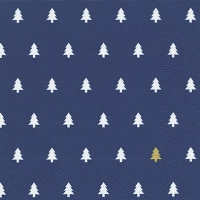 Lunch napkins Trees darkblue gold