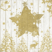 Lunch napkins Winter print gold