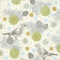 Lunch napkins Xmas birds