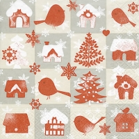 Lunch napkins Xmas memory
