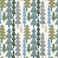 Napkins 33x33 cm - Structured trees
