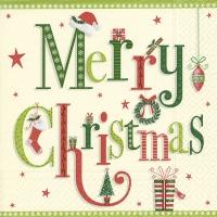 Servietten 33x33 cm - Weihnachtsbriefe
