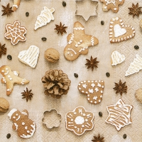 Serviettes lunch Christmas cookies