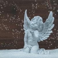 Napkins 33x33 cm - Angel in snow