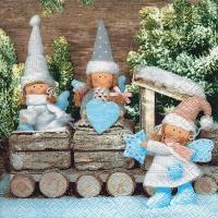 Tovaglioli 33x33 cm - Natale di folletti di Natale
