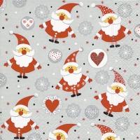 Servietten 33x33 cm - Lustige Weihnachtsmänner
