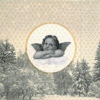 Napkins 33x33 cm - The famous angel