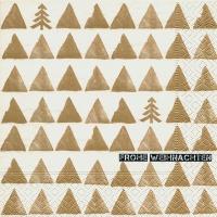 Napkins 33x33 cm - Golden trees