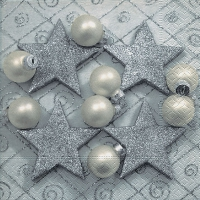 Lunch napkins Four silver stars