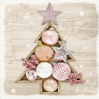 Serviettes lunch Framed baubles