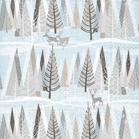Lunch napkins Snowy winter forest