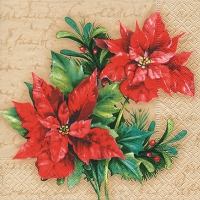Lunch napkins Christmas flower