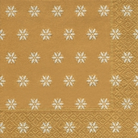 Lunch napkins Snowflakes gold
