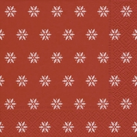 Lunch napkins Snowflakes red