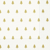 Lunch napkins Trees white/gold