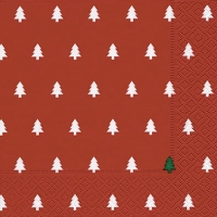 Lunch napkins Trees red
