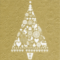 Lunch napkins Moments My Xmas tree gold