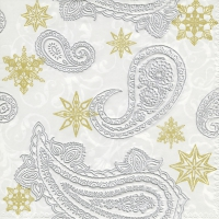 Serviettes lunch  Paisley with stars