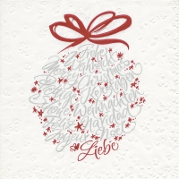 Serviettes de table 33x33 cm - Boule calligraphique