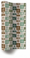 Chemin de table TL Christmas squares green