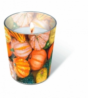 Candles in a glas Pumpkin decoration