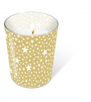 Candles in a glas Starlets gold