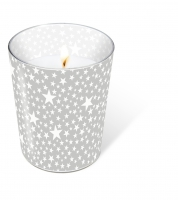 Candles in a glas Starlets silver