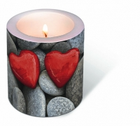 Candles Love stones