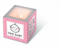 Candles New baby pink