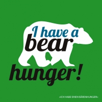 Serviettes lunch Bear hunger