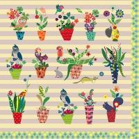 Lunch napkins 5 o´clock flowerpots