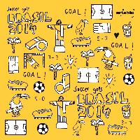 Lunch napkins Soccer Icons