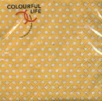 Cocktail Servietten just dots yellow