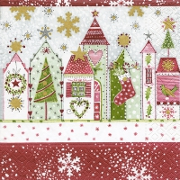 Lunch napkins Christmas road