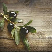 Napkins 33x33 cm - Olives in a wood