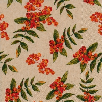 Lunch napkins Rowan berry pattern