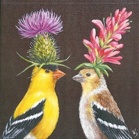 Cocktail napkins Goldfinch Couple