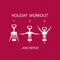 Cocktail Servietten Wine Lover´s Workout