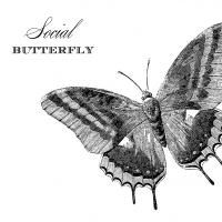 Cocktail Servietten Social Butterfly 25x25 cm