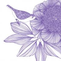 Cocktail Servietten Victoria Flower purple