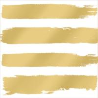 Cocktail Servietten Fashion Stripes gold