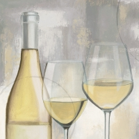 Cocktail napkins A Taste of Wine white