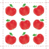 Cocktail napkins Fashion Apple allover Red