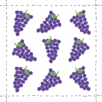 Cocktail napkins Fashion Grapes allover purple