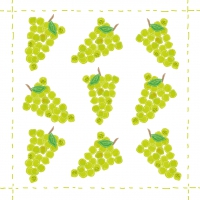 Cocktail napkins Fashion Grapes allover green